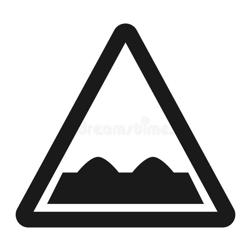 Linha áspera ícone do sinal de estrada ilustração stock