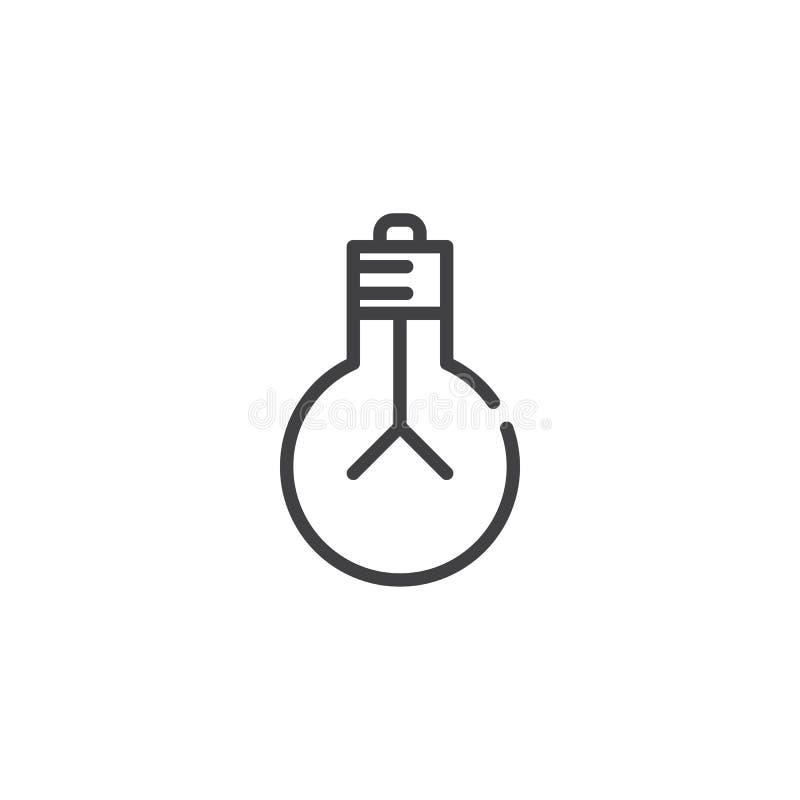 Linha ícone da ampola ilustração stock