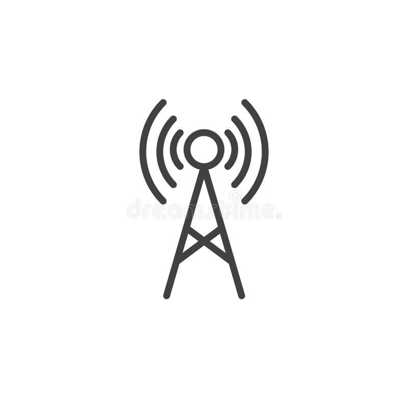 Linha ícone da antena ilustração royalty free