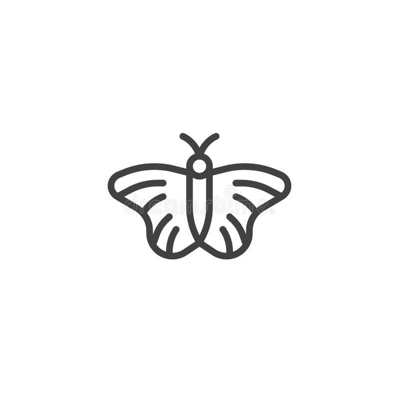 Linha ícone da borboleta ilustração royalty free