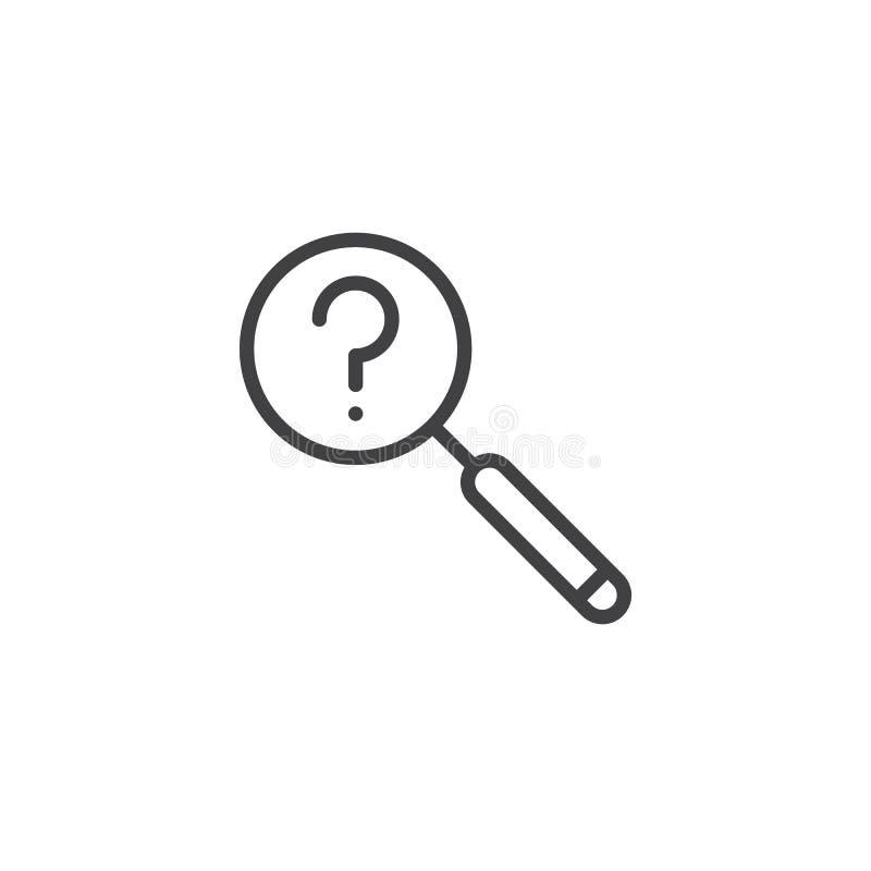 Linha ícone da busca ilustração royalty free