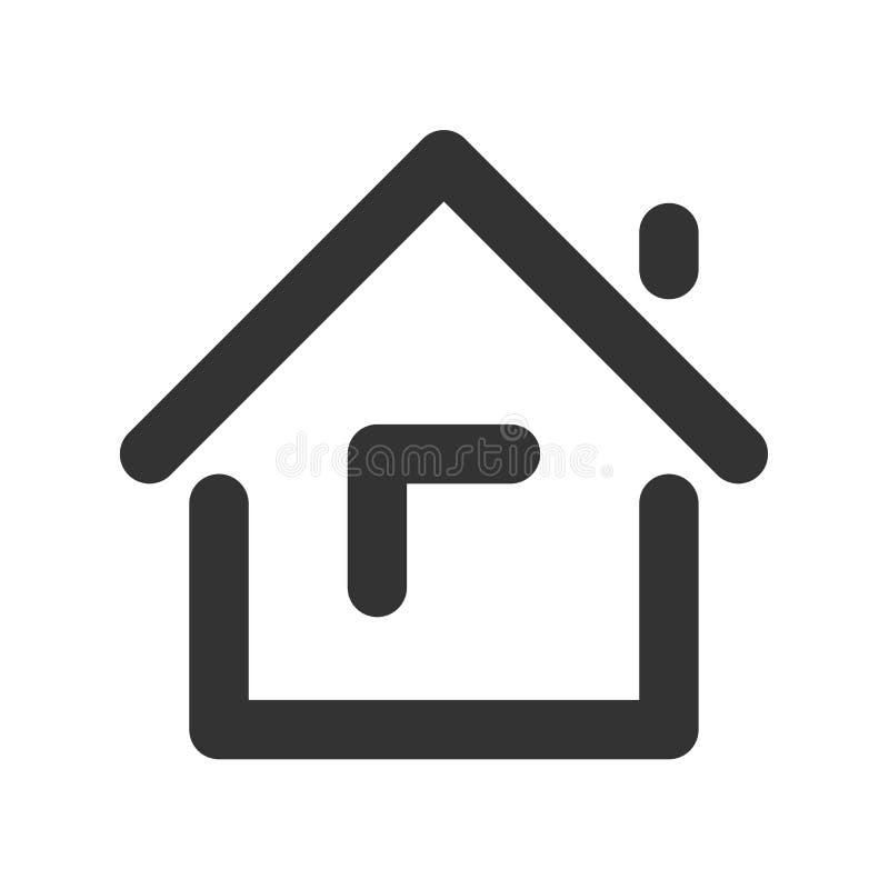Linha ícone da casa ilustração stock