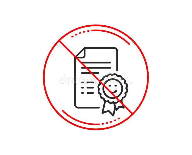 Linha ícone da concessão do sorriso Sinal da avaliação da reação positiva Vetor ilustração do vetor