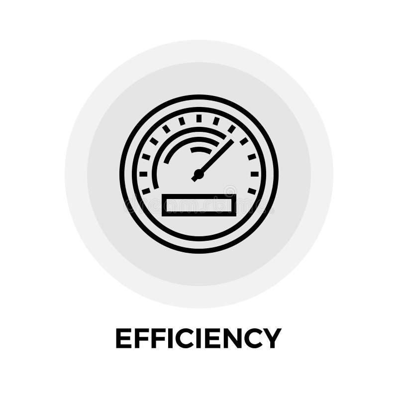 Linha ícone da eficiência ilustração do vetor