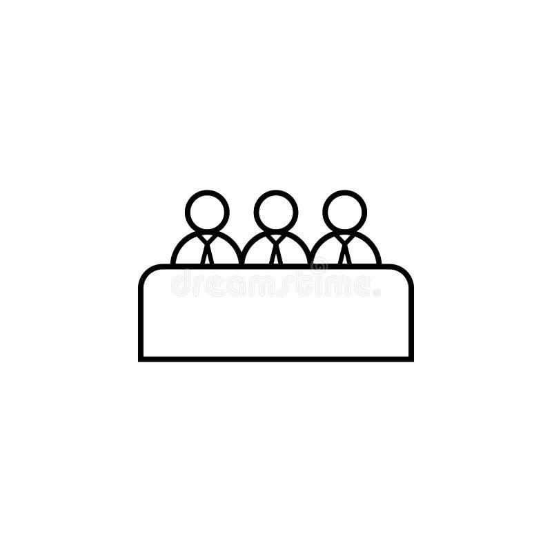 linha ícone da entrevista de trabalho Elemento do ícone principal da caça para apps móveis do conceito e da Web A linha fina ícon ilustração do vetor