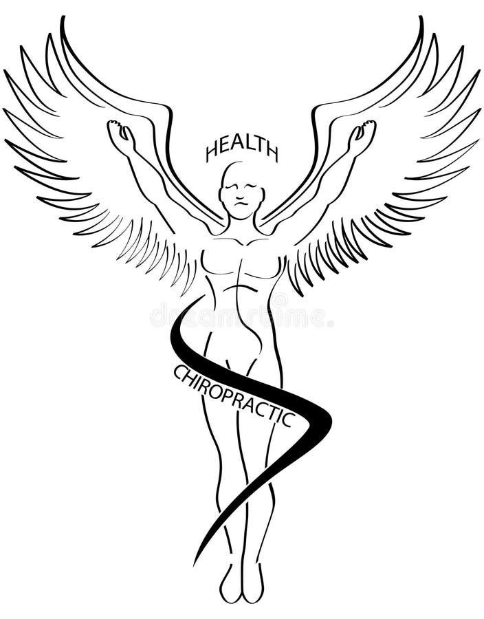 Linha ícone da escova da quiroterapia ilustração do vetor