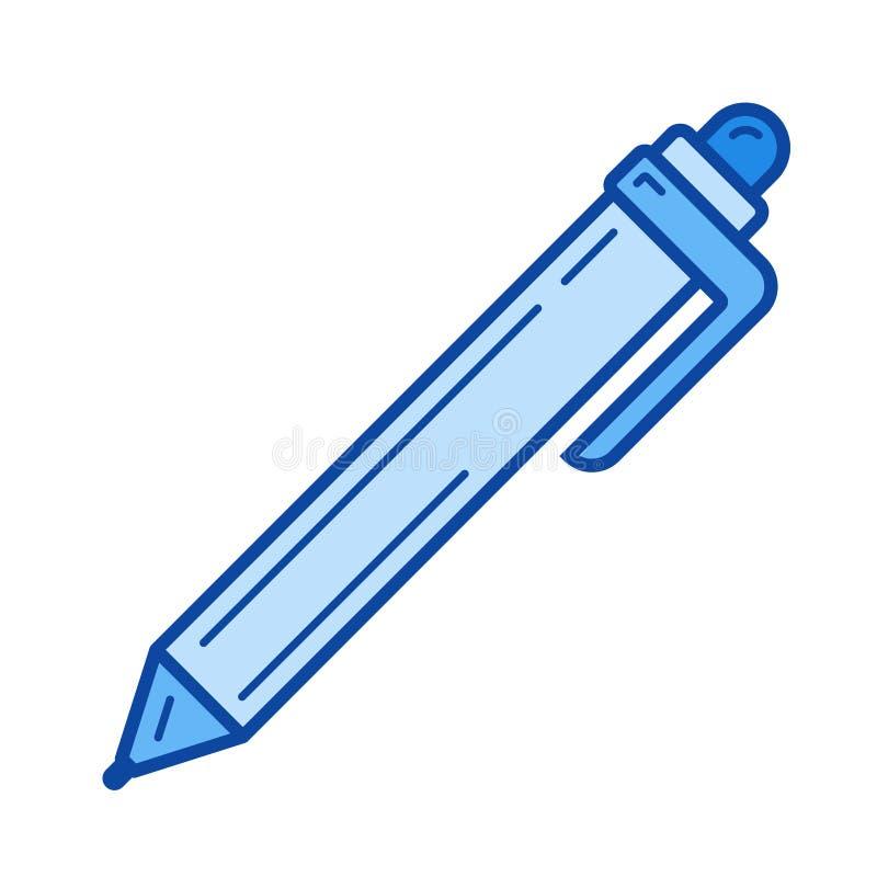 Linha ícone da esferográfica da pena ilustração royalty free