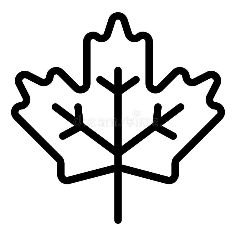 Linha ícone da folha de bordo Ilustração canadense do vetor do sinal isolada no branco Projeto do estilo do esboço da planta, pro ilustração royalty free