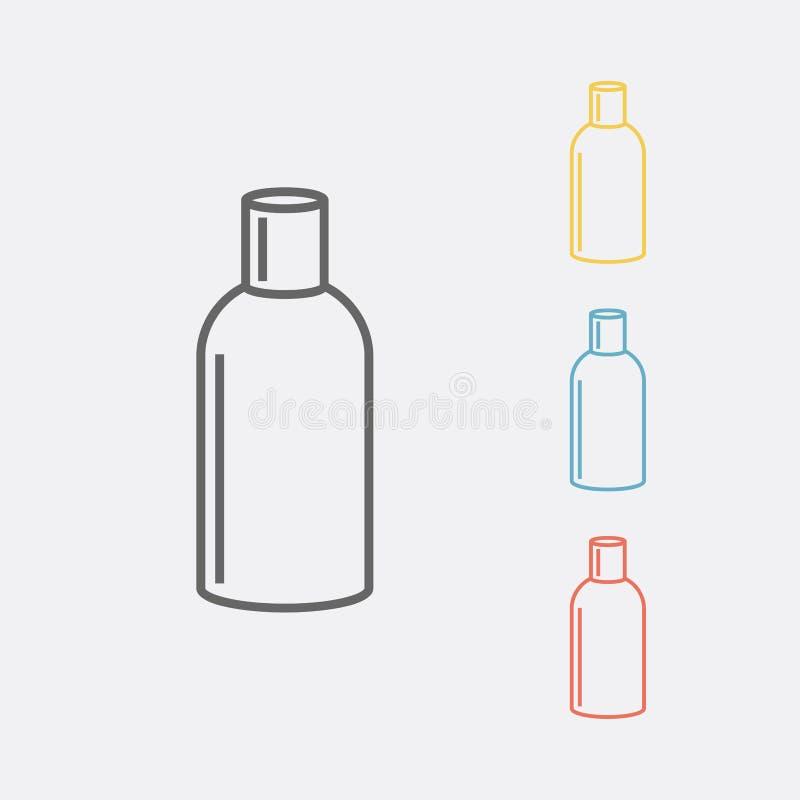 Linha ícone da garrafa de óleos do aroma Ilustração do vetor ilustração do vetor