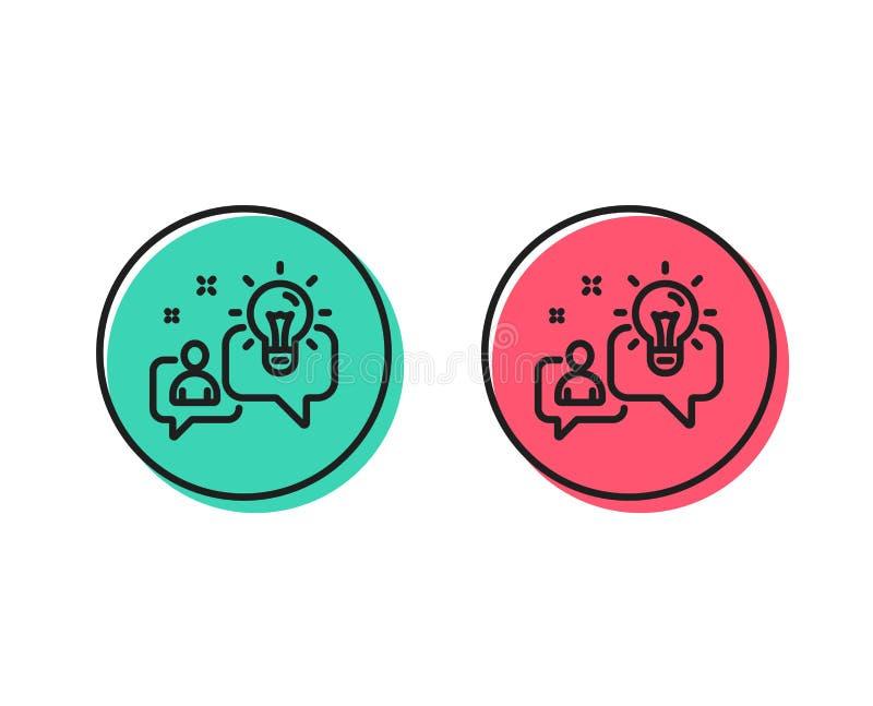 Linha ícone da ideia Sinal da gestão empresarial Vetor ilustração stock