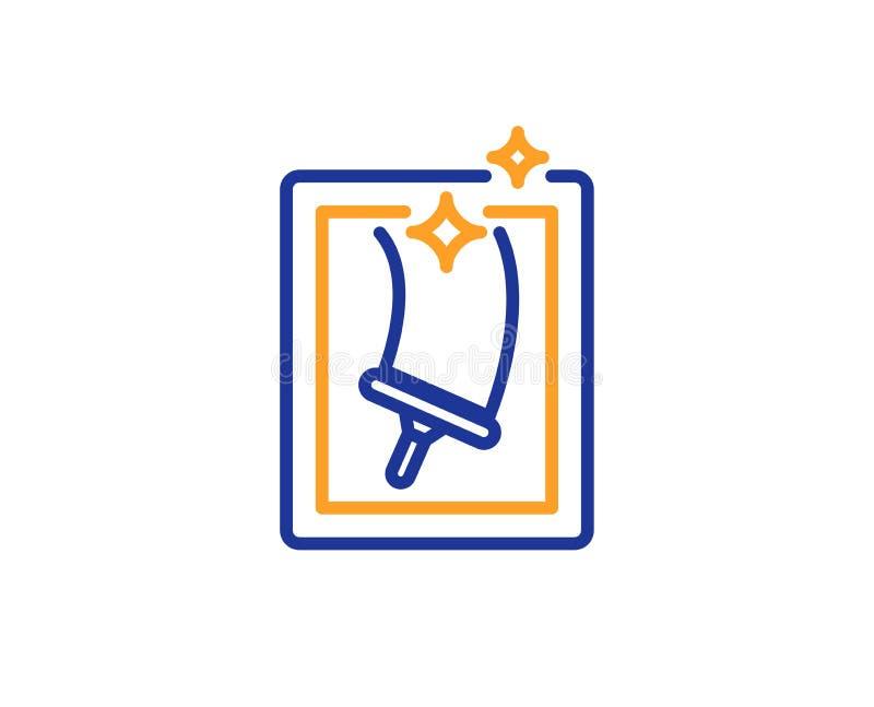 Linha ícone da limpeza de janela Serviço de lavagem Vetor ilustração do vetor