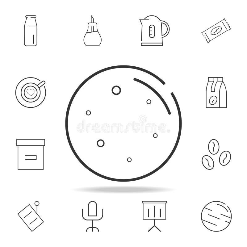 Linha ícone da lua Grupo detalhado de ícones e de sinais da Web Projeto gráfico superior Um dos ícones da coleção para Web site,  ilustração do vetor