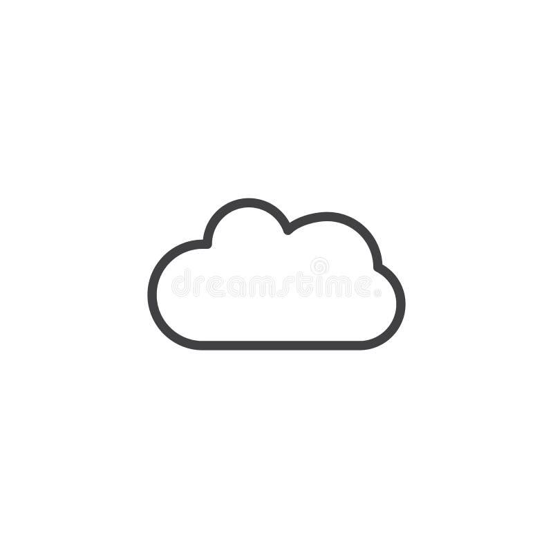 Linha ícone da nuvem ilustração royalty free
