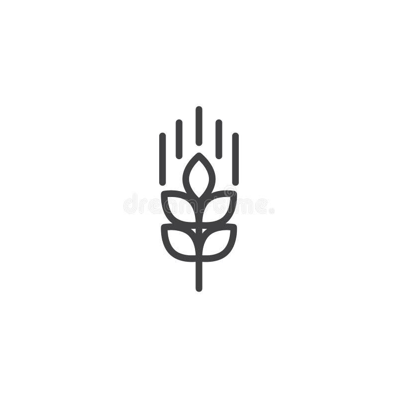 Linha ícone da orelha do trigo ilustração do vetor