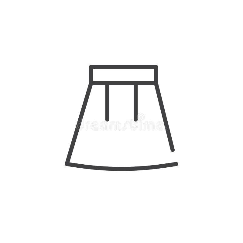 Linha ícone da saia ilustração do vetor