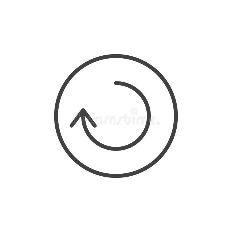 Linha ícone da seta do Reload ilustração do vetor