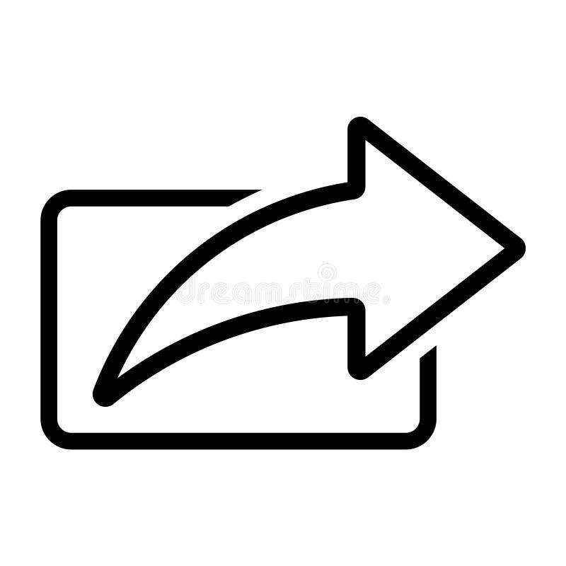 Linha ícone da seta da parte ilustração do vetor