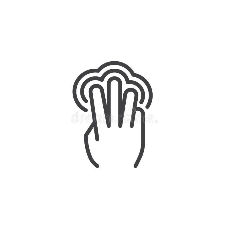 linha ?cone da torneira do dobro 3x ilustração stock