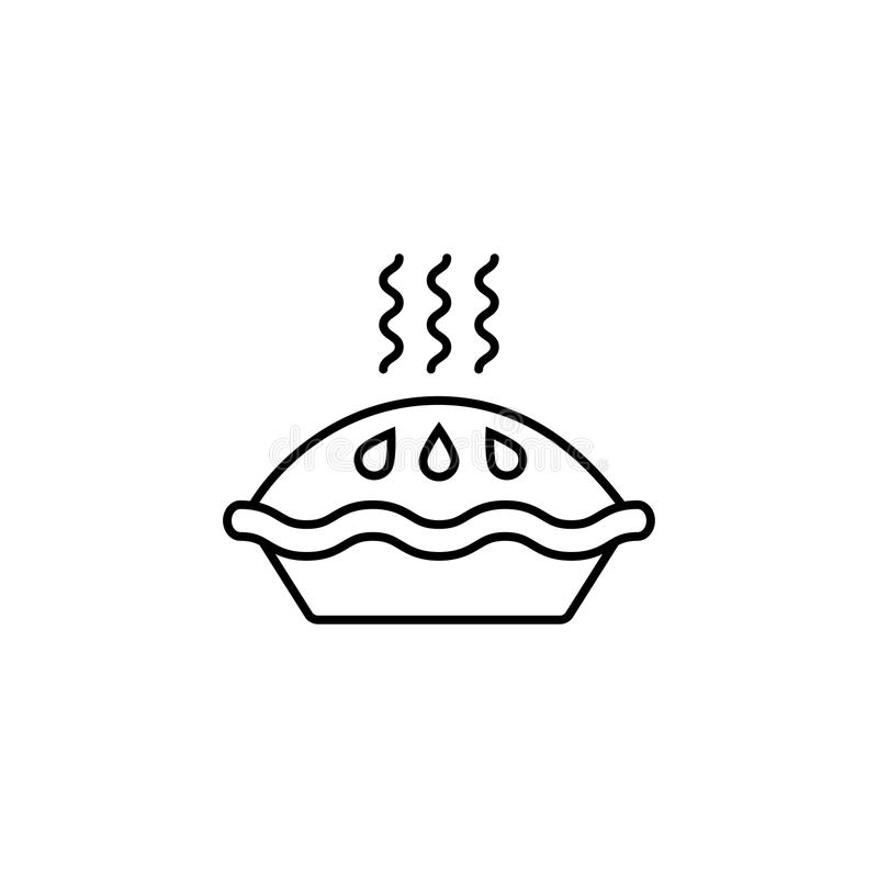 Linha ícone da torta, elementos da bebida do alimento ilustração stock