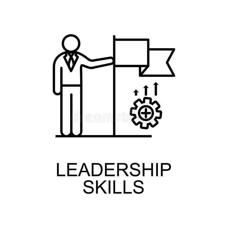 linha ícone das habilidades da liderança Elemento do ícone dos recursos humanos para apps móveis do conceito e da Web A linha fin ilustração do vetor