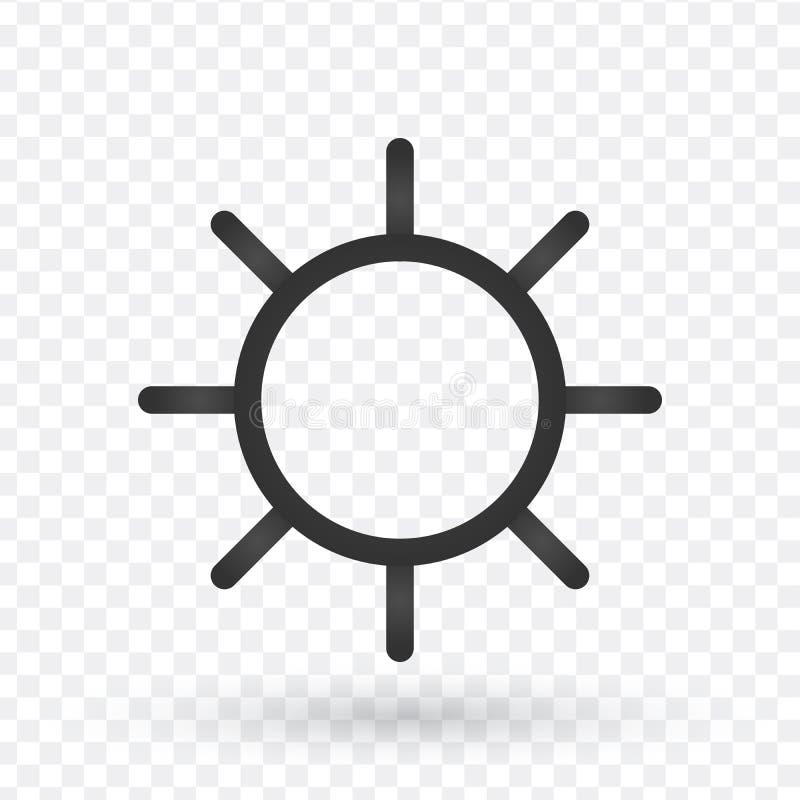 Linha ícone de Sun Alinhe ícones com elementos lisos do projeto no CCB branco ilustração stock