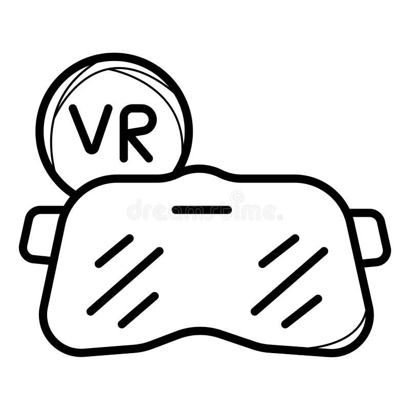 Linha ícone de VR ilustração royalty free