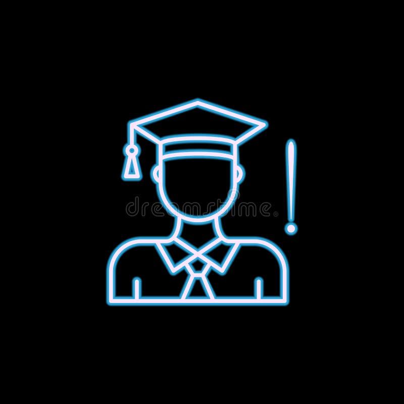 linha ícone do aconselhamento especializado no estilo de néon Um do ícone da coleção da hora pode ser usado para UI, UX ilustração do vetor
