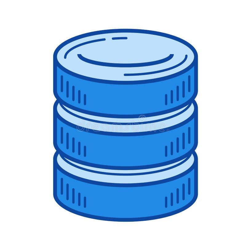 Linha ícone do armazenamento de dados  ilustração stock