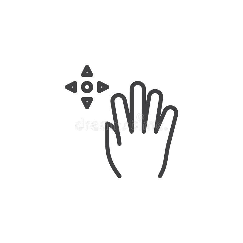 linha ?cone do arrasto 5x ilustração do vetor