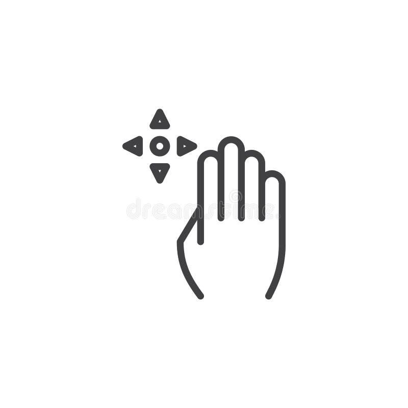 linha ?cone do arrasto 4x ilustração stock