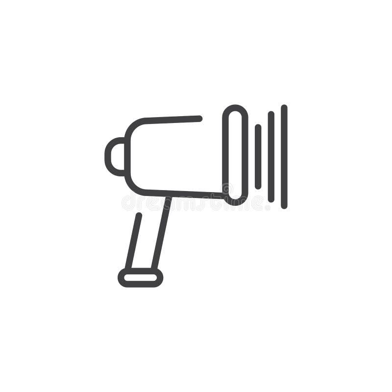 Linha ícone do código de barras da exploração ilustração stock