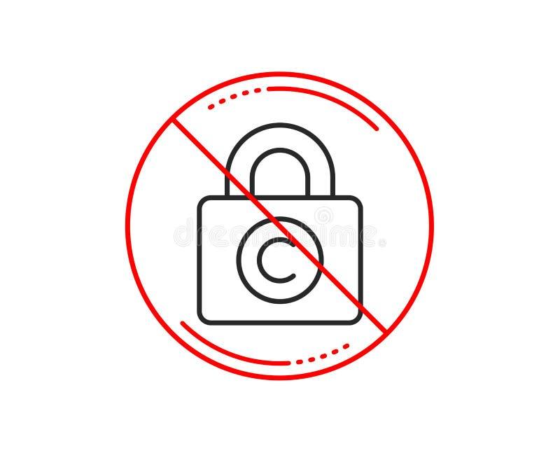 Linha ícone do cacifo de Copyright Sinal de Copywriting Vetor ilustração royalty free