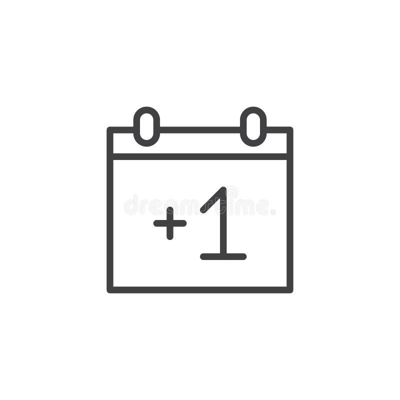 Linha ícone do calendário ilustração stock