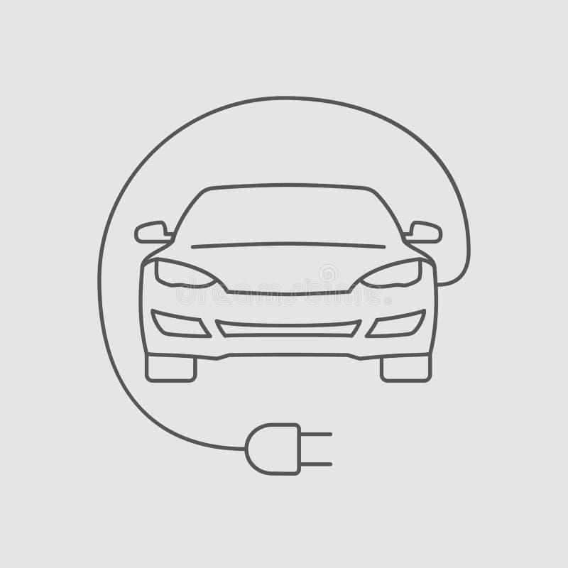 Linha ícone do carro bonde com sroke editável imagens de stock royalty free