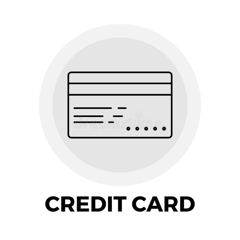 Linha ícone do cartão de crédito ilustração stock