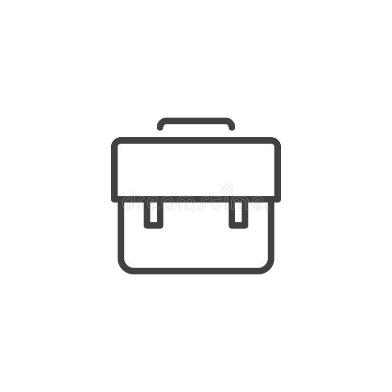 Linha ícone do caso do portfólio ilustração royalty free