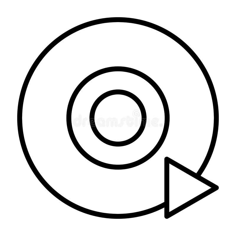 Linha ícone do CD DVD do disco Pictograma do vetor ilustração do vetor