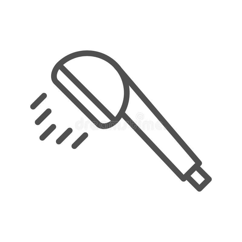 Linha ícone do chuveiro ilustração stock