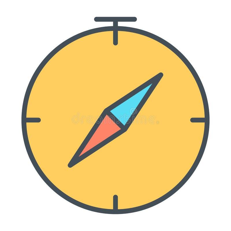 Linha ícone do compasso Pictograma 96x96 mínimo simples do vetor ilustração stock