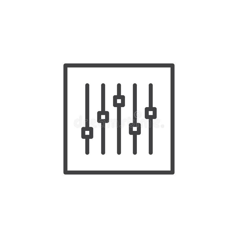 Linha ícone do console do misturador sadio ilustração royalty free