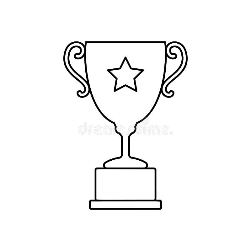 Linha ícone do copo do troféu ilustração stock