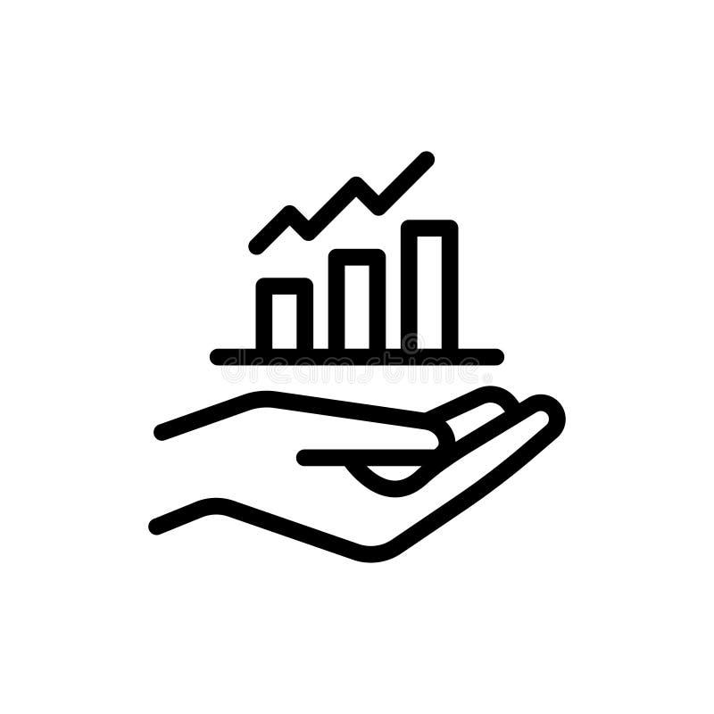 Linha ícone do crescimento ilustração do vetor