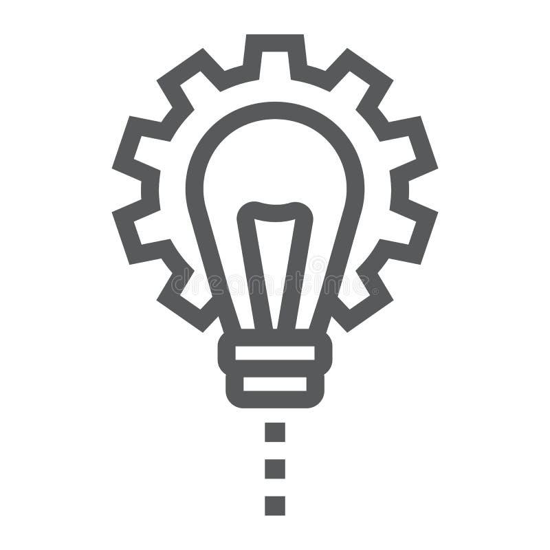 Linha ícone do desenvolvimento de produtos, desenvolvimento ilustração stock