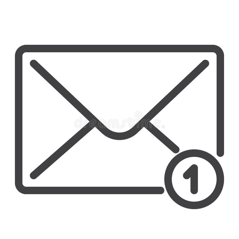 Linha ícone do email ilustração royalty free