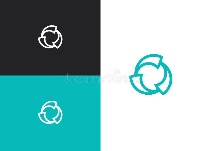 Linha ícone do fã da hélice para infographic, o Web site ou o app ilustração do vetor