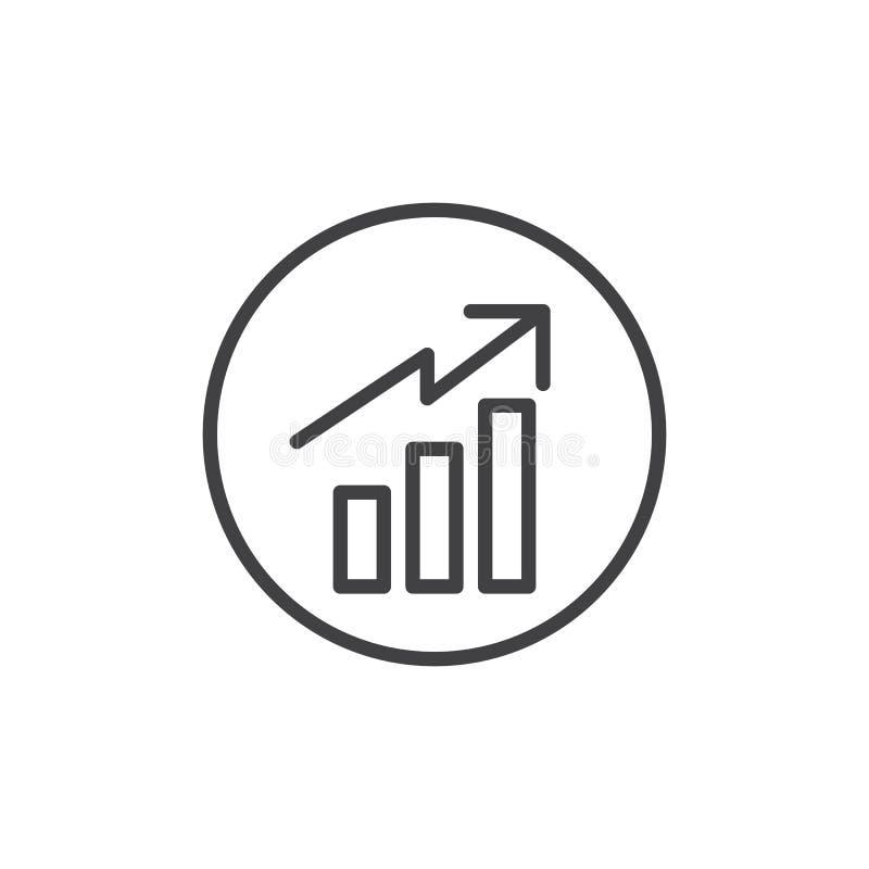 Linha ícone do gráfico de negócio ilustração do vetor