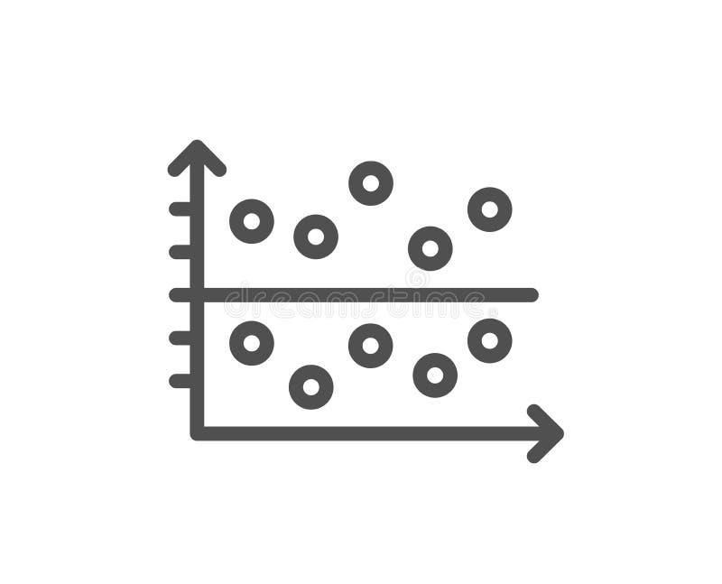 Linha ícone do gráfico do lote do ponto Sinal da carta da apresentação Vetor ilustração royalty free