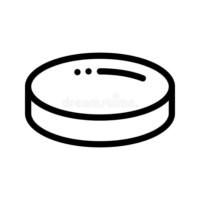 Linha ícone do hóquei em gelo do vetor ilustração royalty free