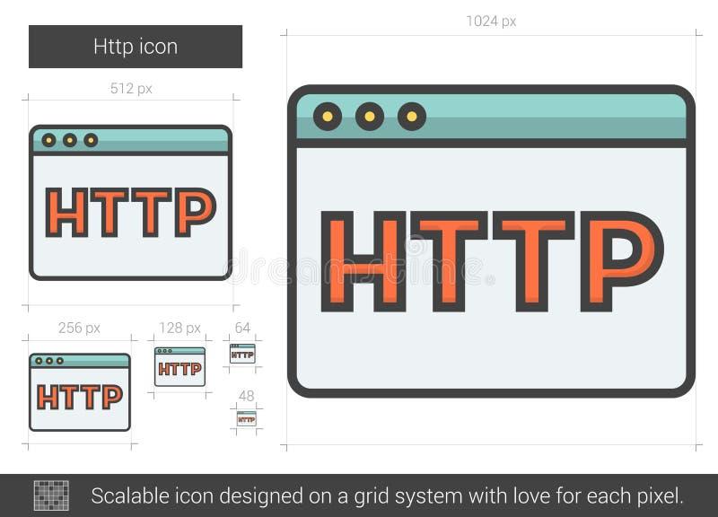 Linha ícone do HTTP ilustração royalty free
