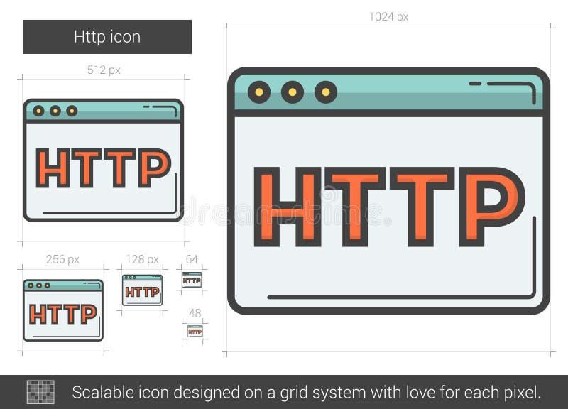 Linha ícone do HTTP ilustração stock